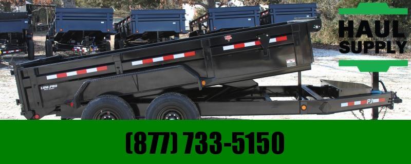 """PJ Trailers 83X14 14K Low Pro Dump /Ultra Low 24""""Dump"""