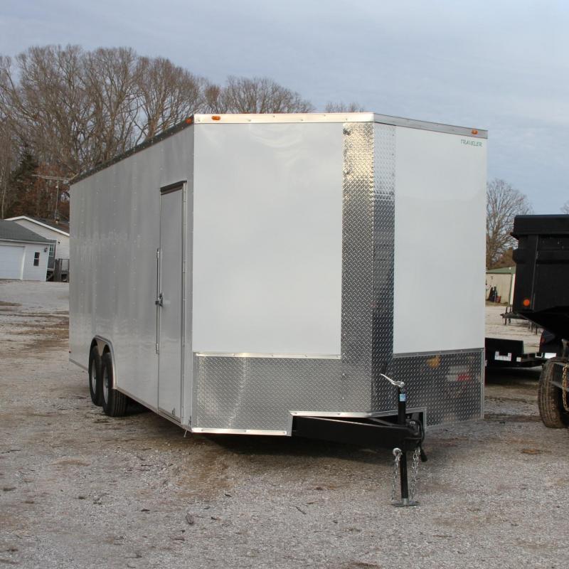 Traveler Cargo 8.5X24 V-nose 7K Enclosed Car Hauler RR S