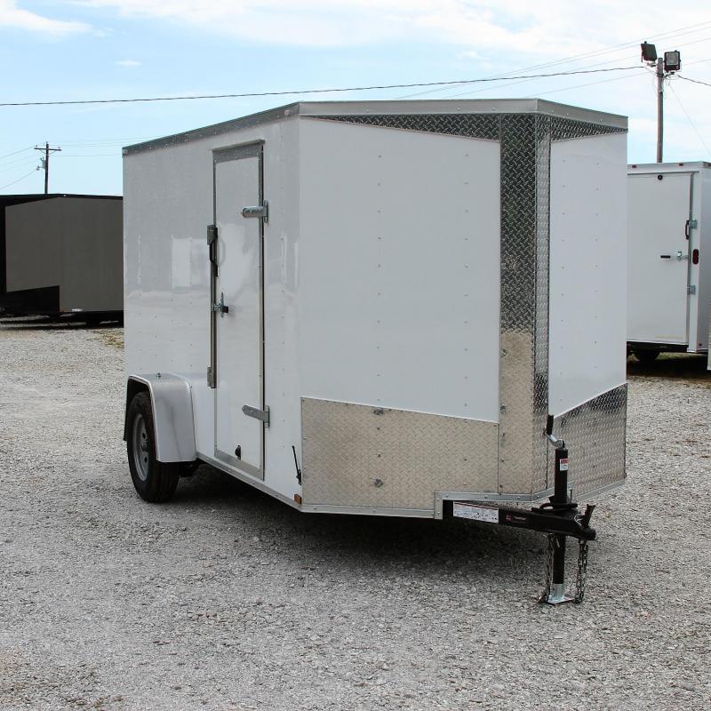 Lark 6X12 V-nose Cargo Trailer Rear Ramp Roof