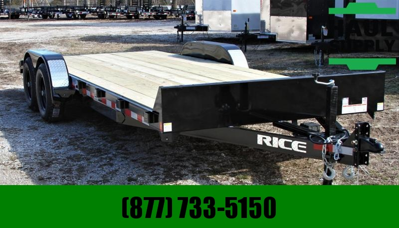 Rice 82X20 10K OPEN CAR HAULER 2'STEEL DOVE 5""