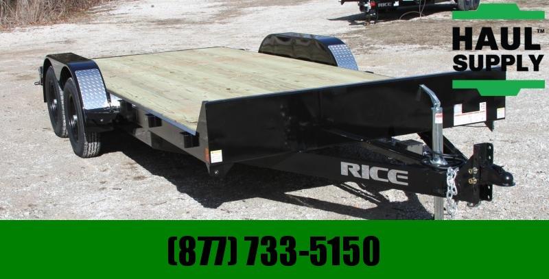 Rice 82X18 7K OPEN CAR HAULER POWDER COAT DOVE