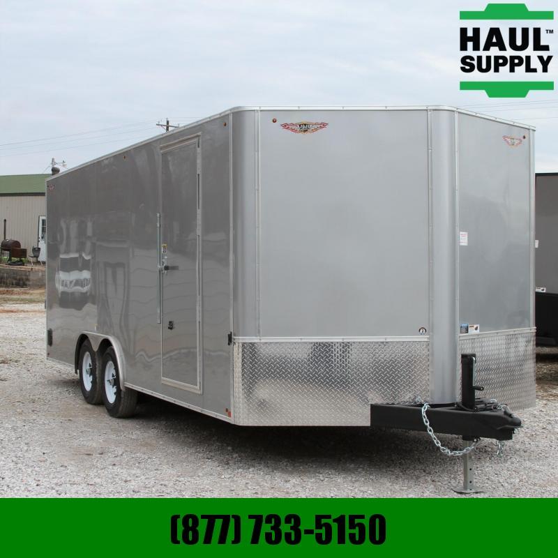 """H and H Trailer 8.5X20 10K V-nose Enclosed Car Hauler 78"""""""