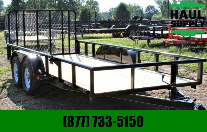 GR Trailers 77X16 PIPETOP UTILITY TRAILER BRAKES LEDS