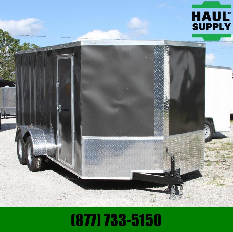 Traveler Cargo 7X16 7K V-nose Cargo Trailer Rear Ramp LE