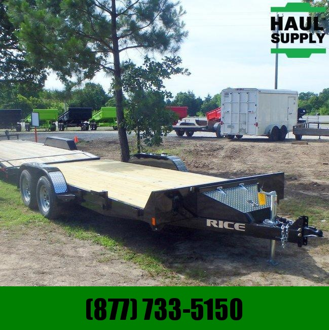Rice 82X18 7K OPEN CAR HAULER TOOLBOX DOVETAIL