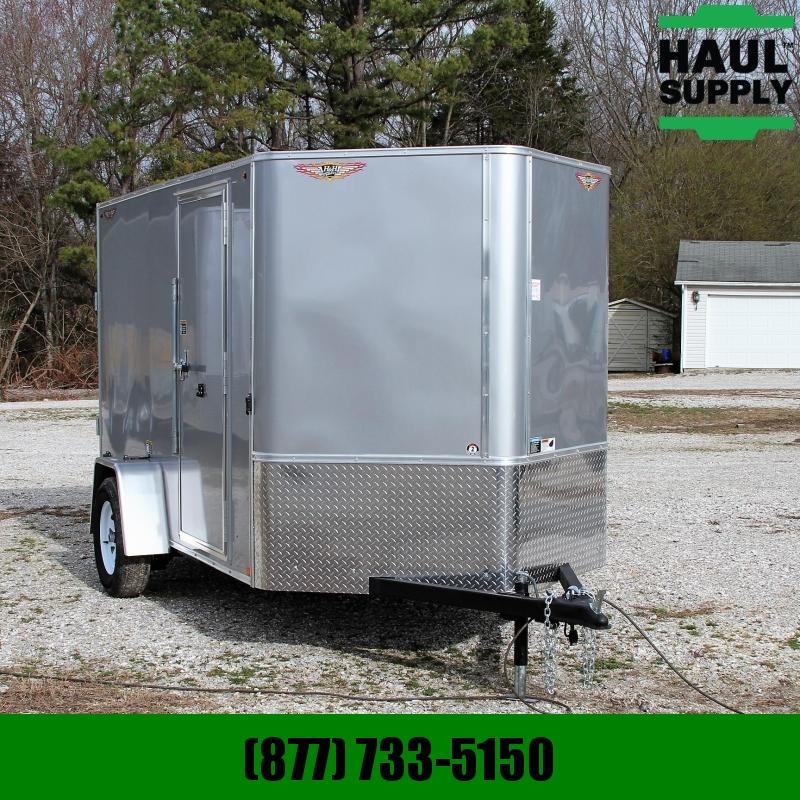 H & H Trailer 6X10SA V-nose Enclosed Cargo Trailer RR R Cargo / Enclosed Trailer