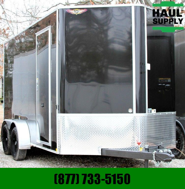 H & H Trailer 7X14 7'TALL RIVETLESS BULLET LINER UNDERC Cargo / Enclosed Trailer
