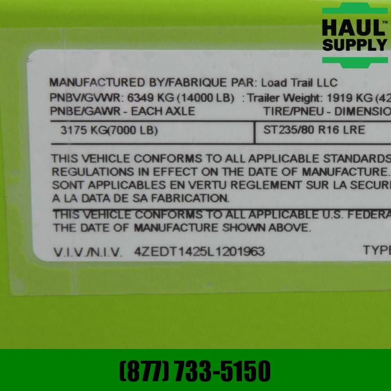 "Load Trail 83X14 DUMP TRAILER 48""HIGH SIDES RAMPS TA"