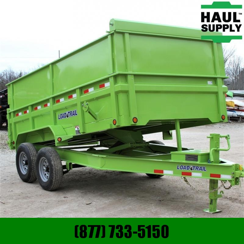 "Load Trail 83X14 Dump Trailer 48""High Sides Ramps Tarp I-Beam"