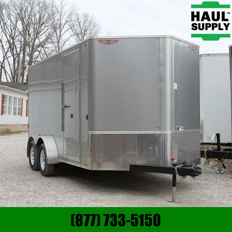 H and H Trailer 7X14TA 7K  V-nose Enclosed Cargo Trailer