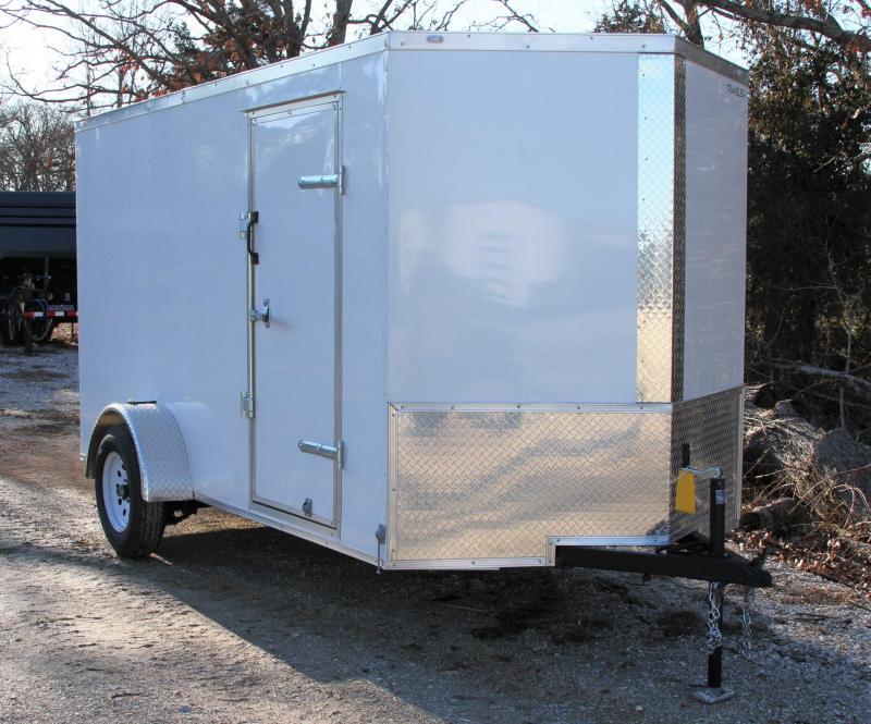 Traveler Cargo 6X12SA V-Nose Enclosed Cargo Trailer RR L Cargo / Enclosed Trailer
