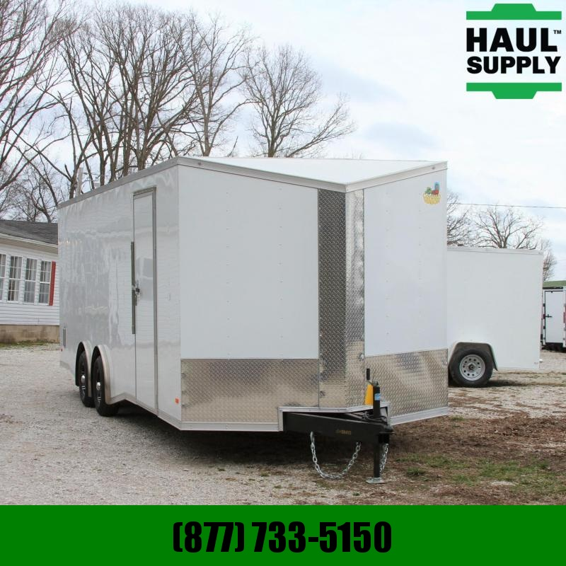 Covered Wagon Trailers 8.5X24 Slant V-nose Enclosed 10K Car Haul