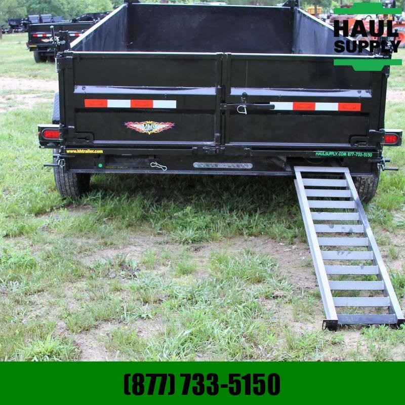 H and H Trailer 83X16 14K Dump 8in Steel Channel frame wi