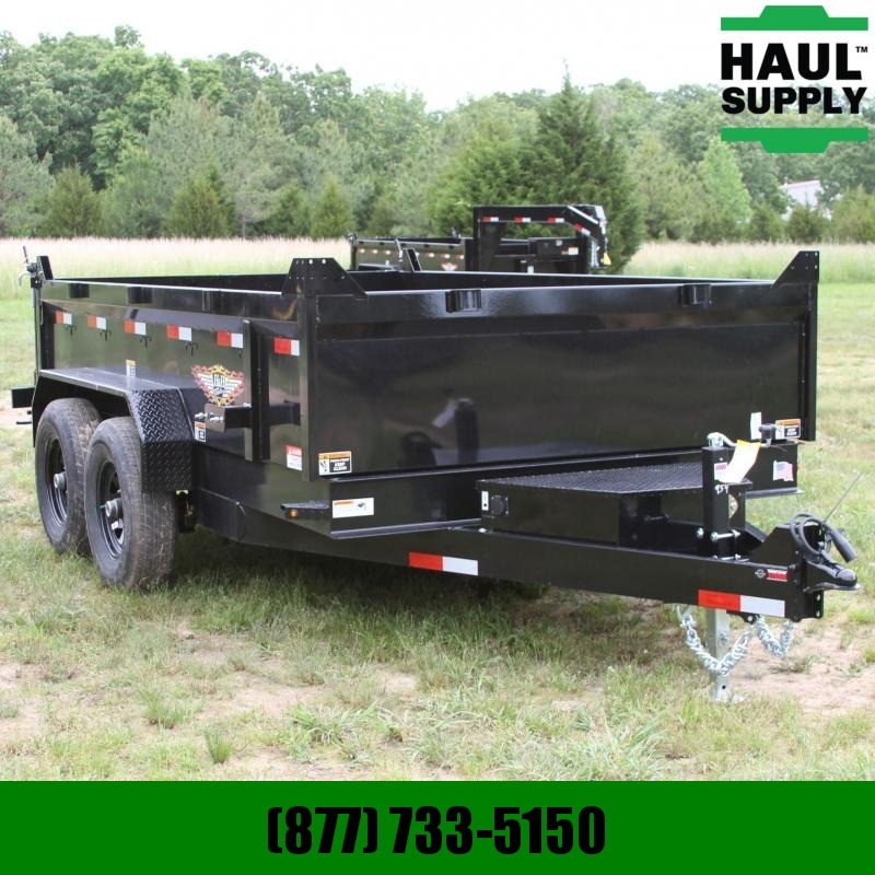 S and H Trailers 83X16 14K Dump 8in Steel Channel frame wi