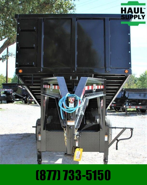 PJ Trailers 96X20 25K PJ HURRICANE DUMP TRAILER RAMPS
