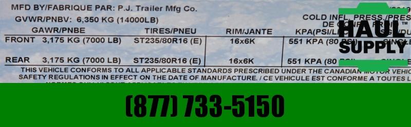 PJ Trailers 83X20 14K NO RAMP TILT RUBBER GRIP DECK