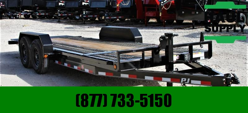 PJ Trailers 83X20 14K NO RAMP TILT RUBBER GRIP DECK