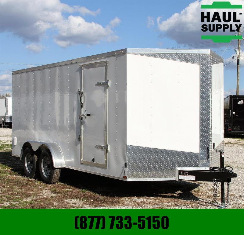 Lark 7X16TA 7K V-nose Enclosed Cargo Trailer D