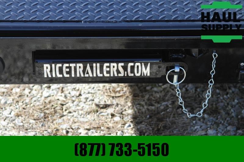"Rice 82X20 14K Equipment Trailer 3""Channel Cro"