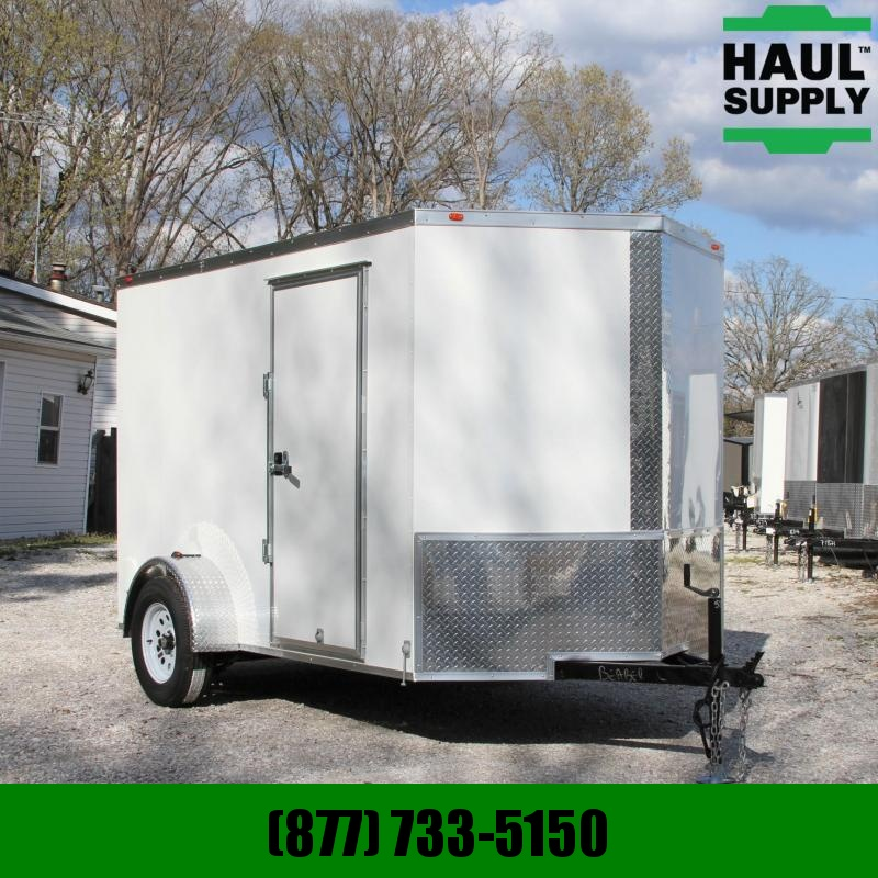 Traveler Cargo 6X10SA V-nose Enclosed Cargo Trailer RR L