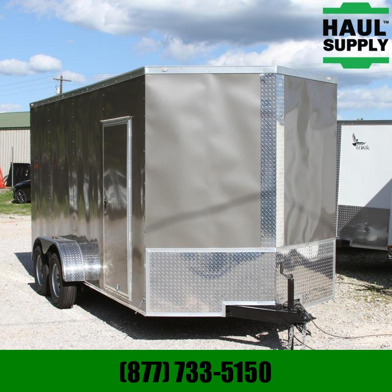 Traveler Cargo 7X16 7K V-nose Cargo Trailer XT Rear Ramp