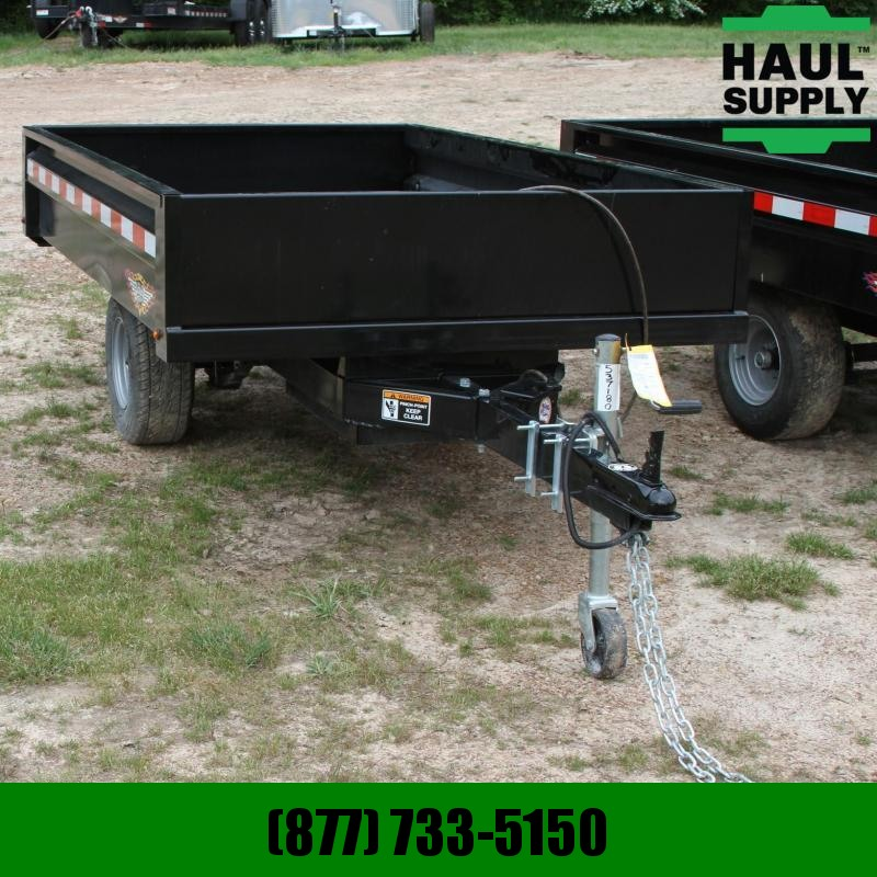 S and H Trailers 4.5X8 Homeowner Dump Trailer 11ga Steel d