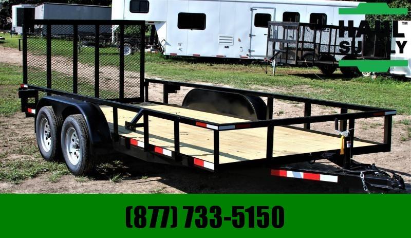 Stingray LLC 76X16 UTILITY W/4'REAR GATE HIGH GLOSS Utility Trailer