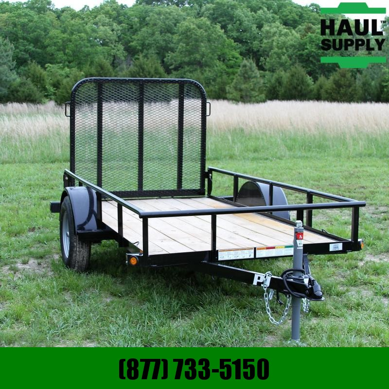PJ Trailers 60X10 Angle Utility Trailer with 4ft  Gat