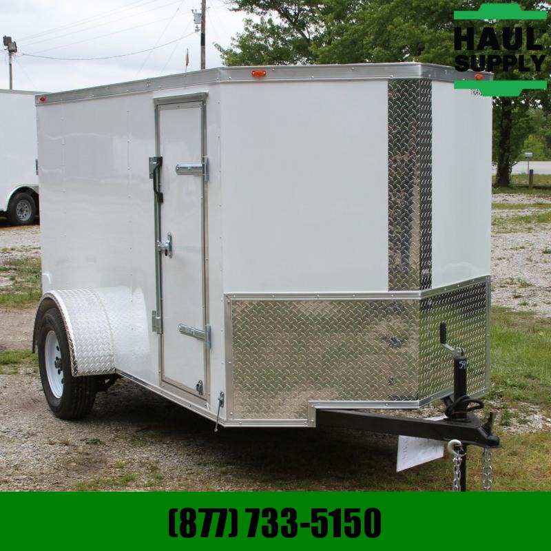 Traveler Cargo 5X10 V-nose Cargo Trailer DRD Side Vents