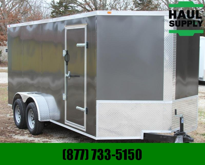 7X16 V-Nose Cargo Trailer Double Doors 16in Centers LEDs!