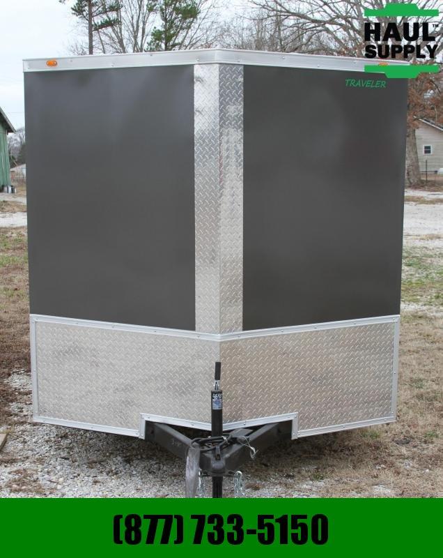 Traveler Cargo 7X16TA Cargo Trailer V Nose DRD LEDs