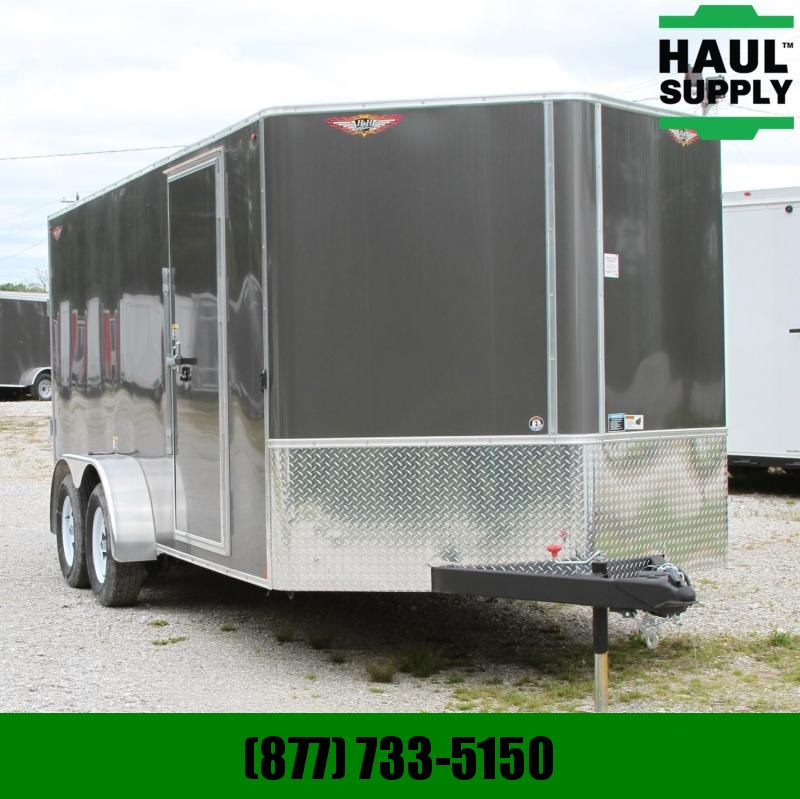H and H Trailer 7X16 V-NOSE RIVETLESS RADIALS LEDS UNDERC