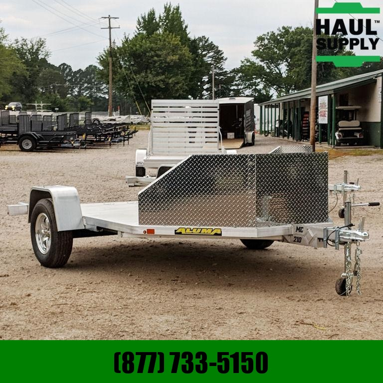 Aluma 78X10 ALUMA MC210 TWO MOTORCYCLE HAULER T