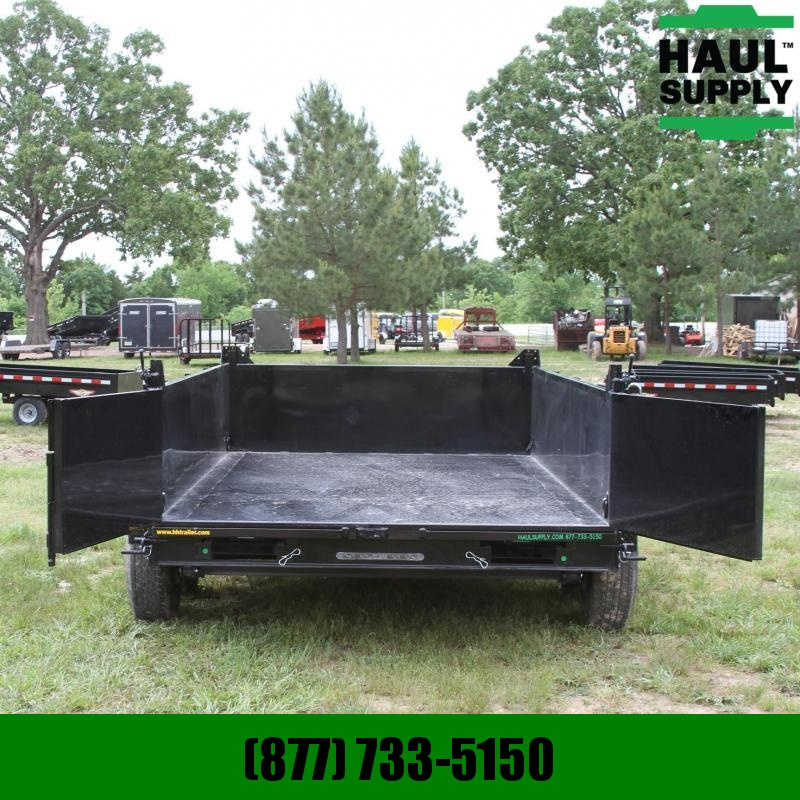 S and H Trailers 83X12 14K Dump 8in Steel Channel frame wi