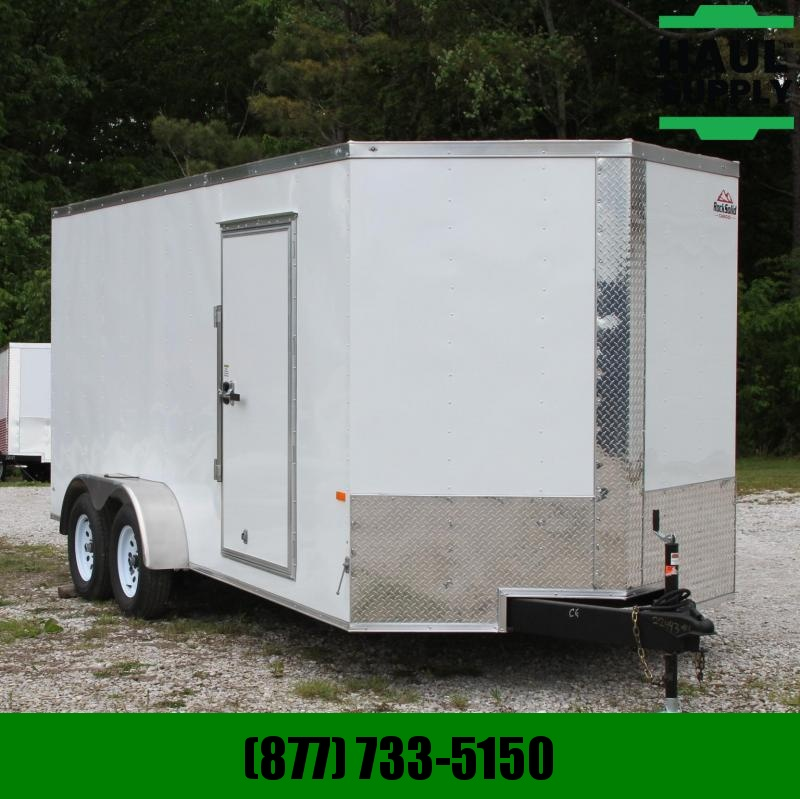 Rock Solid Cargo 7X16 7K V-nose XT Cargo Trailer Rear Ramp
