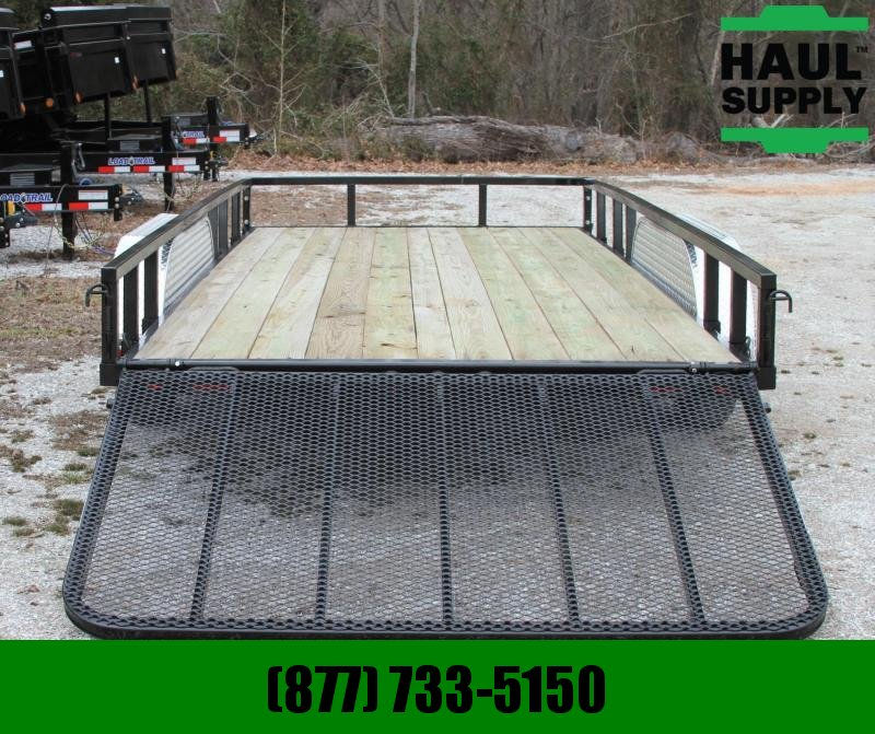 Load Trail 83X16 PIPETOP 4' GATE LEDS BRAKES RADIALS