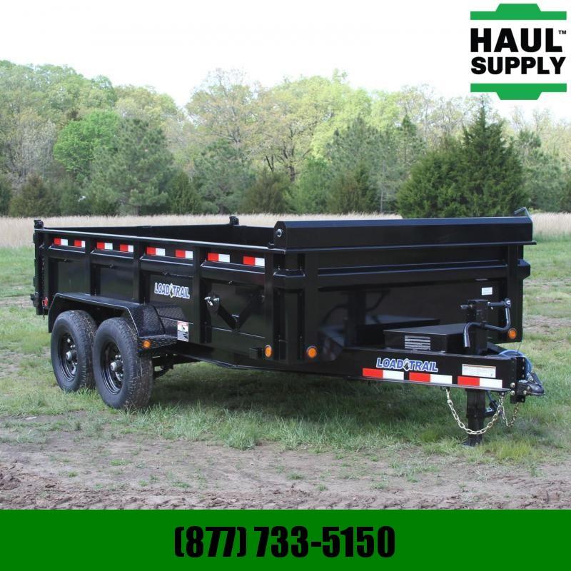 Load Trail 83X14  14K Dump Trailer Ramps Tarp I-Beam