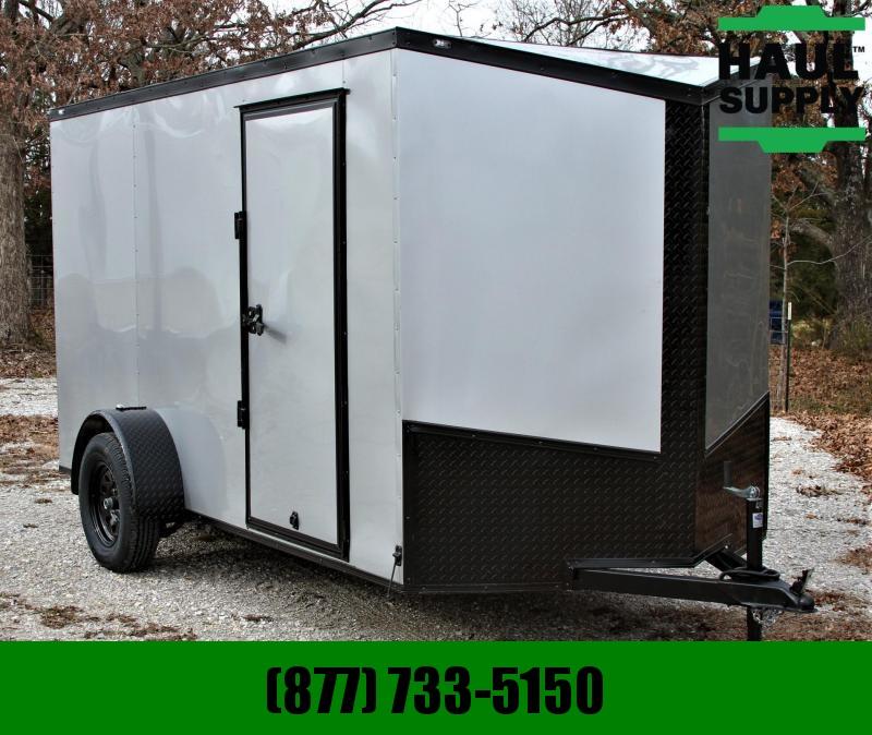 Traveler Cargo 6X12 BLACKOUT V-NOSE CARGO TRAILER RADIAL Cargo / Enclosed Trailer