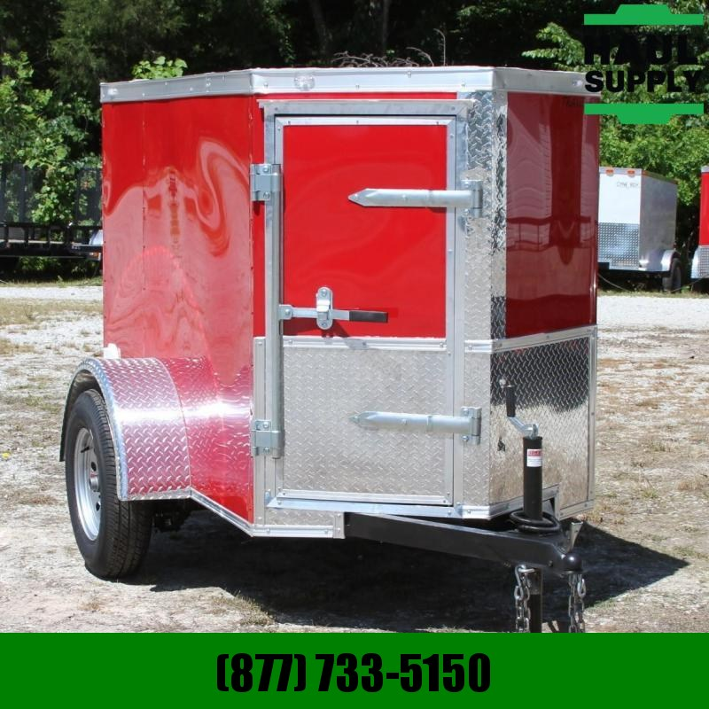 Traveler Cargo 4X6  V-nose Cargo Trailer Side Vents RR S