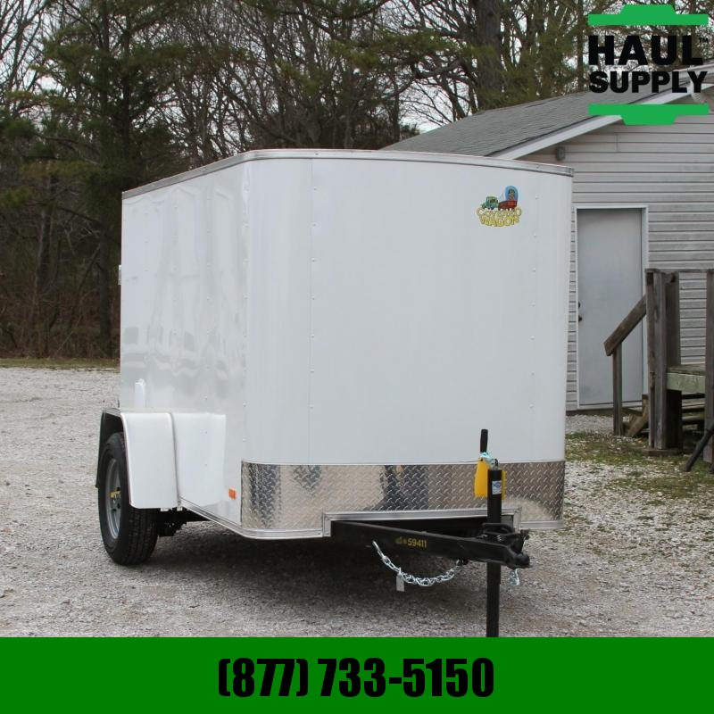 Covered Wagon Trailers 5X8SA Radius Front Enclosed Cargo Trailer Cargo / Enclosed Trailer