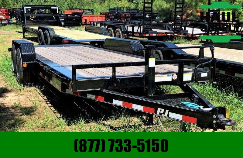 PJ Trailers 82X20 16K NO RAMPS GRAVITY TILT HD OILBAT