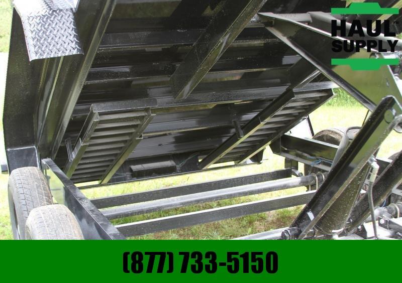 S and H Trailers 83X14 14K Gooseneck Dump 8in Steel channe