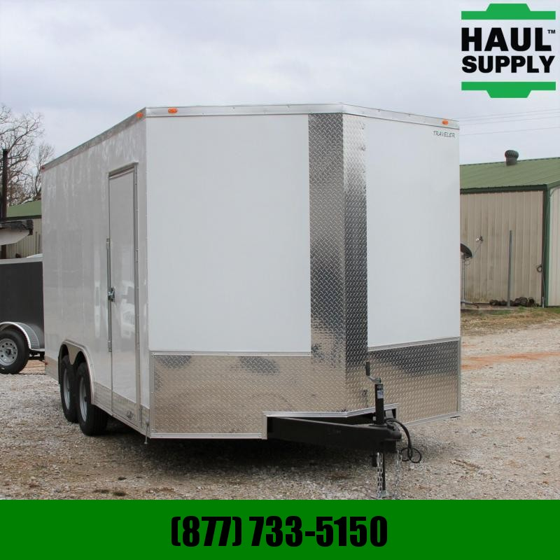 "Traveler Cargo 8.5X16 V-NOSE CARGO TRAILER 84""TALL 16"