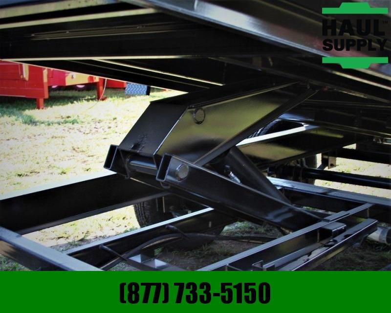 PJ Trailers 83X14 Low Pro Gooseneck Dump Ramps Tarp+MORE