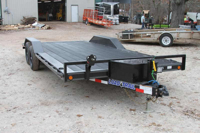 Load Trail 102X20 EXTRA WIDE HAULER RUBBERWOOD DRIVE