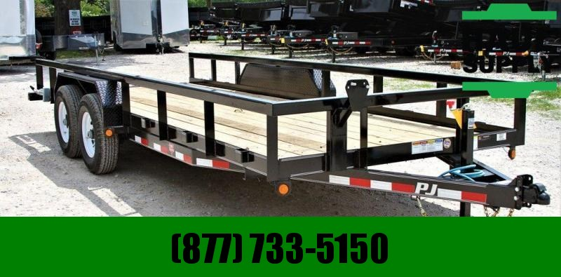 PJ Trailers 83X20 14K PIPETOP TRAILER RAMPS SQ TUBE S