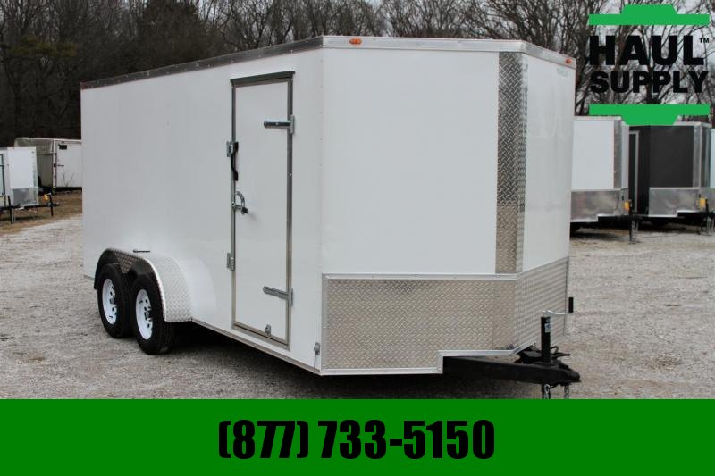 Traveler 7X16TA Cargo Trailer V Nose Rear Ramp LED