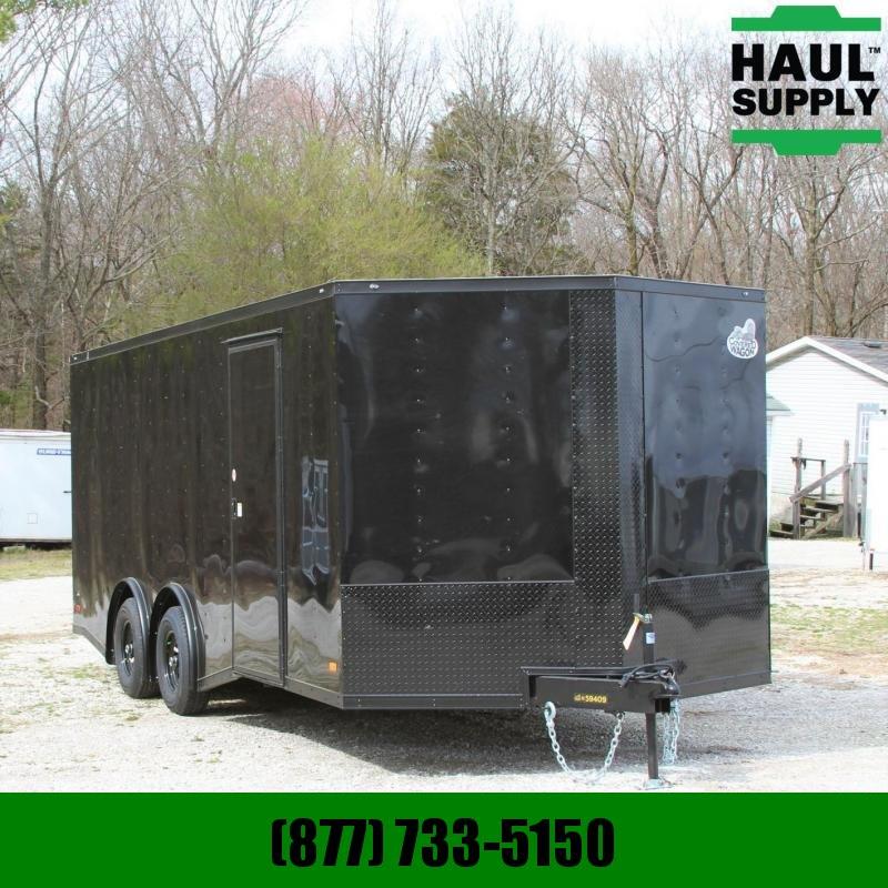 Covered Wagon Trailers 8.5X20 V-nose Enclosed 10K Car Hauler RR