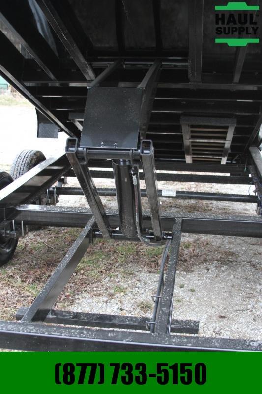 PJ Trailers 83X16 Low Pro 14K Dump Ramps Tarp 8in I-B