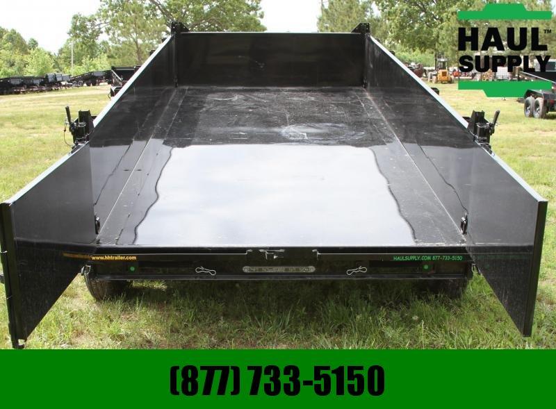 H and H Trailer 83X16 14K Gooseneck Dump 8in Steel Channe
